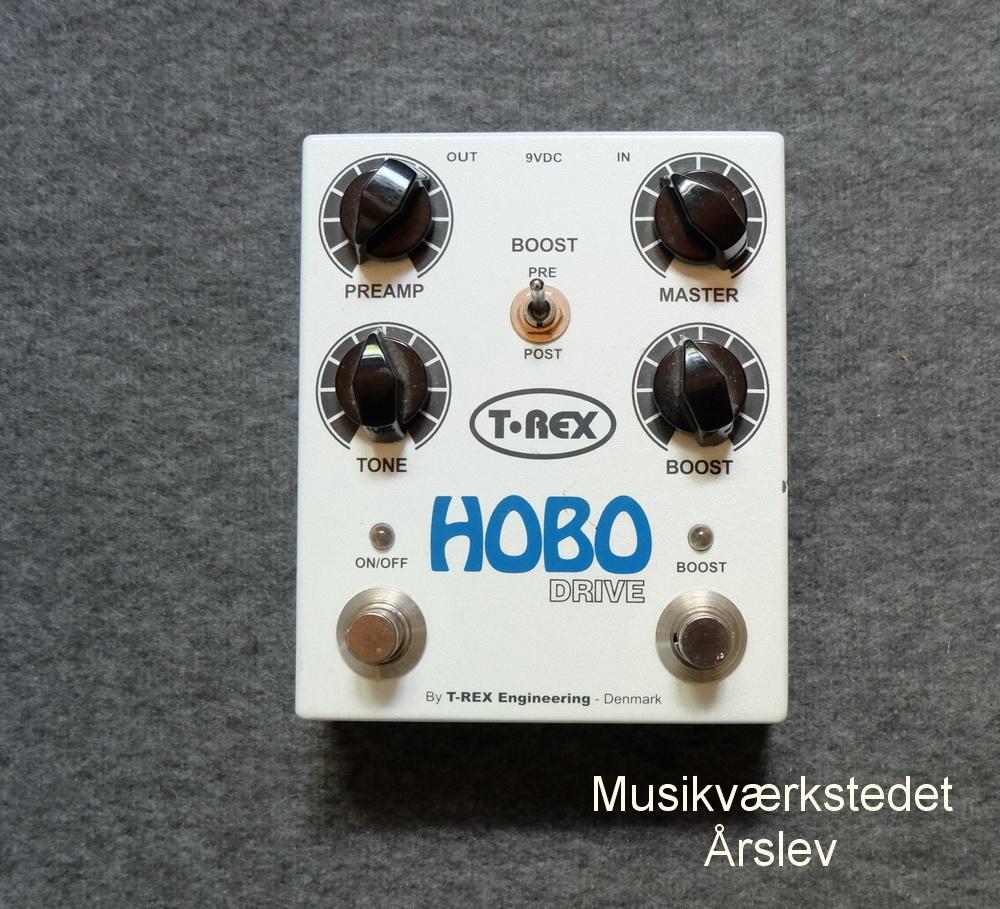 T:REX Hobo Drive + boost. Seperat Switch for drive og boost. Meget fyldig og effektiv lyd. 950,- kr